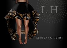 L&H :: AFRIKAAN SKIRT :: Black & Brown