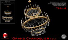 Meshworx - Grand Chandelier GOLD (Copy/Mod only) 100% MESH