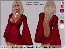 *Aggressione* -Moniq- Red Velvet Dress appliers Omega,Slink,Maitreya,Belleza,EVE,TMP