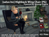 [satus Inc] Highback Wing Chair [PG] {Synergy Engine} ~ 150 Animations 100 Poses