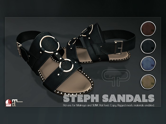 Pure Poison - Steph Sandals - Ad-ons for Maitreya and Slink Flat Feet
