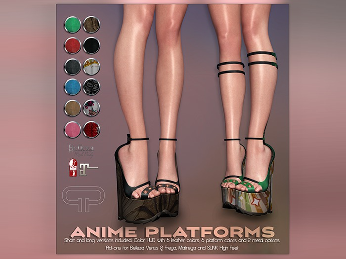 Pure Poison - Anime Platforms - Ad - ons for Belleza, Maitreya, SLINK High Feet