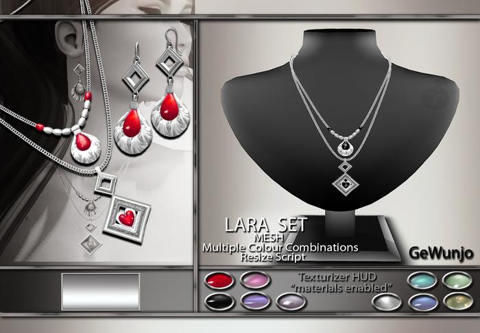 GeWunjo : LARA jewelry set silver