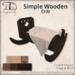[DDD] Simple Wooden Crib