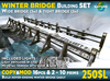 Winter Bridge SET - Never-ending 100% MESH bridge with 3D snow, lamps - lowprim