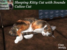 [WHD] - Sleeping Kitty Cat with Sounds - Calico