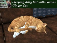 [WHD] - Sleeping Kitty Cat with Sounds - Ginger