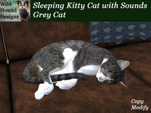 [WHD] - Sleeping Kitty Cat with Sounds - Grey