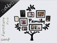 ::db furniture:: Family Tree Picture Frames 10 different photos Mesh 2