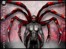 0o Morph animated Spider Attachments BLOOD ZEBRA widow (male & female)