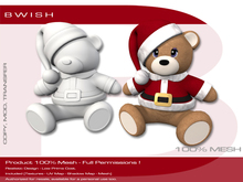 BWish - Santa Teddy Bear Mesh Full Permissions