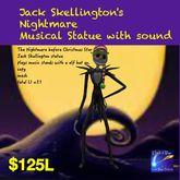 Musical Jack Skullington Statue(crate)