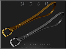 T-3D Creations [ Handle with a D ring - Without the Hook ]  Micro and Regular MESH - Full Perm -
