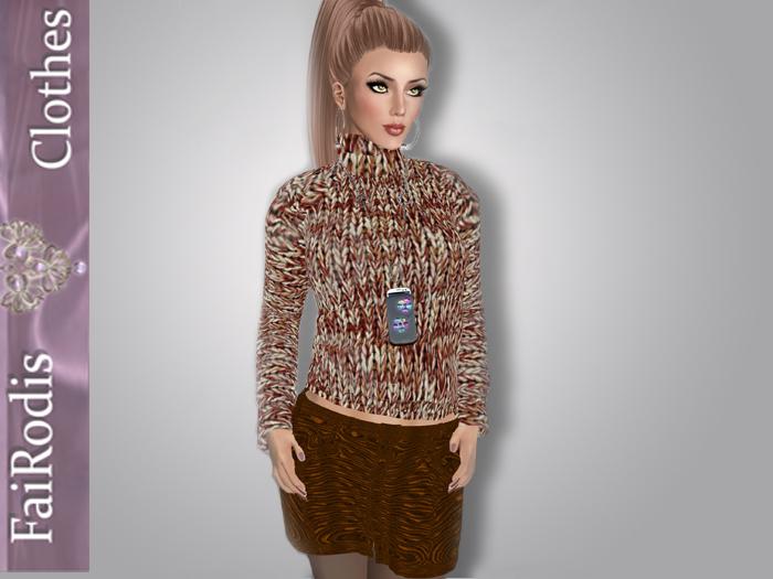 FaiRodis Warm Winter sweater2 brown