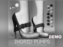 DEMO - Pure Poison - Ingrid Pumps - Ad - ons for Belleza, Maitreya, SLINK High Feet The Mesh Project Ouch Feet