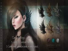 ::TI:: Ear cuffs Wings -Black pack