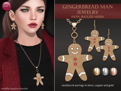 Izzie's - Gingerbread Man Jewelry