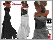 *Ariana* gown in black & white