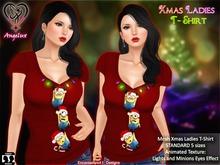 Xmas Minions Ladies T-Shirt  GIFT