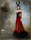 """""""TWA"""" Selluvia Maloria Gown Set-Ruby"""