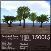 Sculpted Tree [5 set pack + 1]