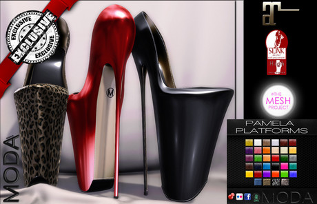 [MODA] CORSET PIN UP PUMPS & HUD DEMO (RIGHT SHOE ONLY IN DEMO)