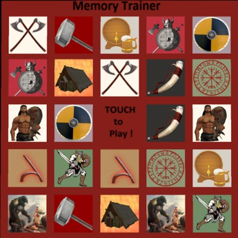 Torvie / Viking Memory Game (Concentration Game)