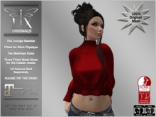 *LX* Lounge Sweater Red (Slink, Maitreya, Fitted)