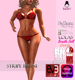 BABEY | BIKINI-Red Stripe [UPDATED]-LOLAS-OMEGA-MAITREYA-SLINK-BELLEZA-WOWMEH-EVE