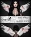 Corvus : Mesh Wings Bloody White
