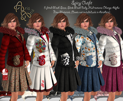 ***ArisAris~Spicy Outfit~Hud Texture Change