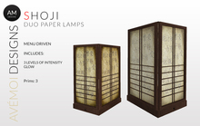 .:: AM ::. DUO Shoji Lamps - Scripted