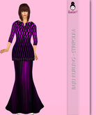 BABEY | STRIPOLKA KURUNG - PURPLE