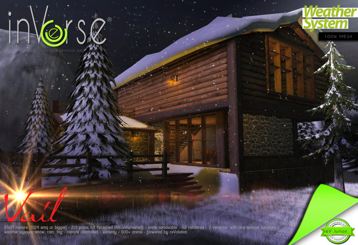 inVerse® Mesh - Vail Multiseason - full furnished  cottage  500+ anims