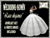 Wedding lace gown(complete outfit)