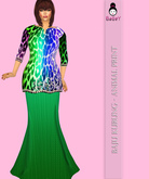 {B}ANIMAL PRINT KURUNG - GREEN