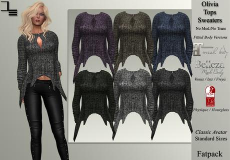 DE Designs - Olivia Top - Sweaters Fatpack