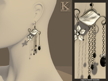 (Kunglers) Josephine earrings - Black