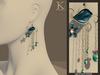 (Kunglers) Josephine earrings - Teal