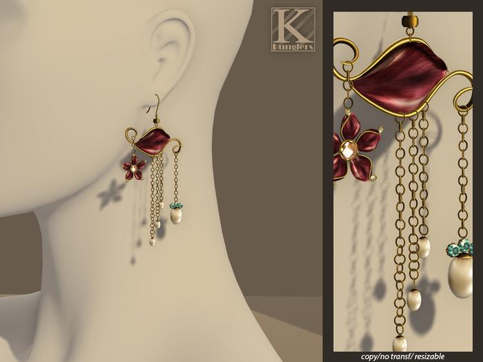 (Kunglers) Josephine earrings - Plum
