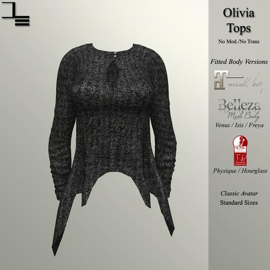 DE Designs - Olivia Top - Black Sweater