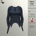 DE Designs - Olivia Top - Blue Sweater