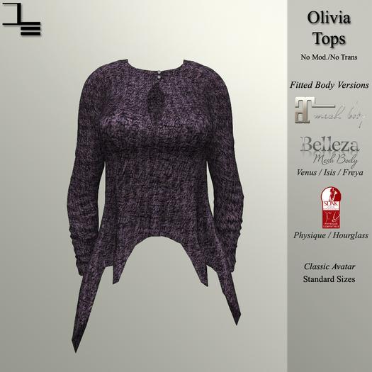 DE Designs - Olivia Top - Orchid Sweater
