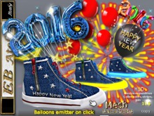 EB Shoes - Mesh UNISEX Sport 2016 w/Balloons emitter HAPPY NEW YEAR