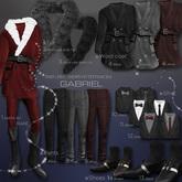 10.::GB:: Coat Inner / Black Shirt set