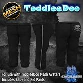 {PN} ToddleeDo Boys Pants - Black Leather