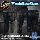 {PN} ToddleeDo Boys Pants - Distressed Denim