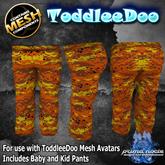 {PN} ToddleeDo Boys Pants - Orange Camo