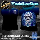 {PN} ToddleeDoo Sleeveless Hoodie - Black and Blue