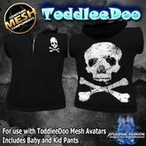 {PN} ToddleeDoo Sleeveless Hoodie - Black Leather
